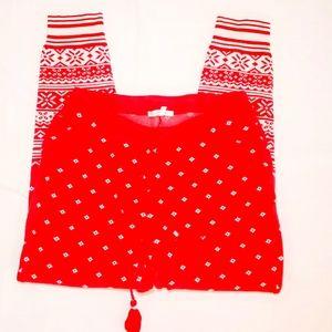 #6 Victoria's Secret Christmas Pajama Small Pants